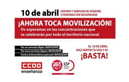 Concentraciones 10 abril convenio Discapacidad