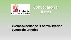 Convocatoria Cuerpo superior y letrados mar-2018