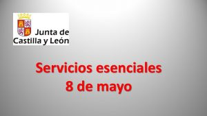 Jcyl Servicios esenciales 8-03-2018