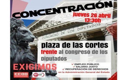 Concentración Congreso UGT CCOO 26-04-2018
