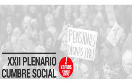Cumbre Social Estatal defensa sistema público pensiones