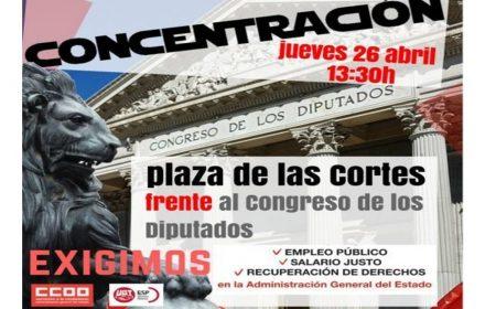 UGT y CCOO convocan delegados AGE en Madrid Congreso