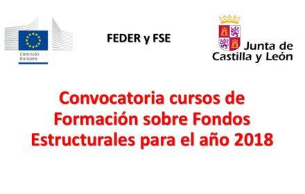 cursos Formación Fondos Estructurales 2018