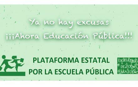 más compromiso y financiación Educación