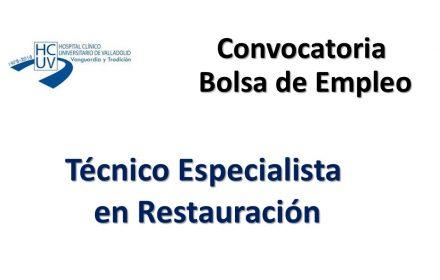 bolsa empleo clinico Va tecnico esp restauración may-2018