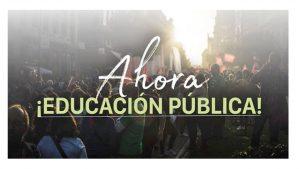 escuela pública rechaza hoja ruta PP