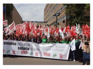 Concentración Valladolid reclamar empleo público AGE