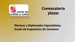 Convocatoria Inspectores Consumo jun-2018