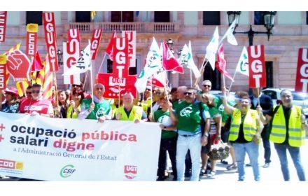 Movilizaciones carrera prof y homologación laborales y funcionarios