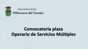 Ayto Villanueva plaza operario