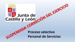 suspendida correccion ejercicio personal servicios