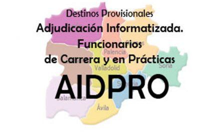 AIDPRO Adjudicación Informatizada Destinos Prov 18-19