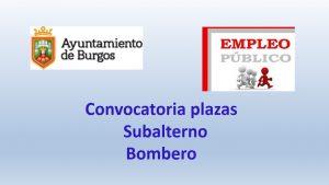 convocatoria subalterno y bombero ago-2018