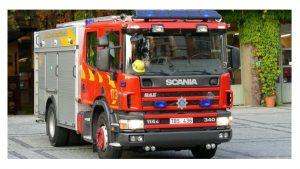 rotativos azules vehículos de bomberos