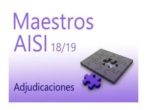AISI 2 18-19 Maestros Adjudicación