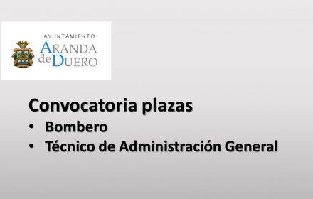 Ayto aranda convocatoria plazas sep-2018