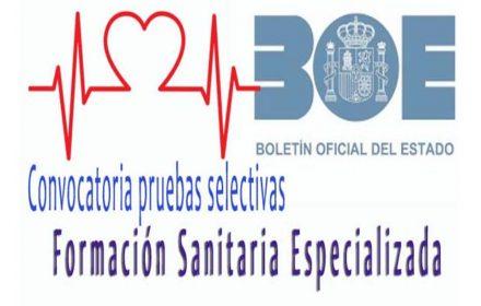 Convocatoria Formación Sanitaria Especializada