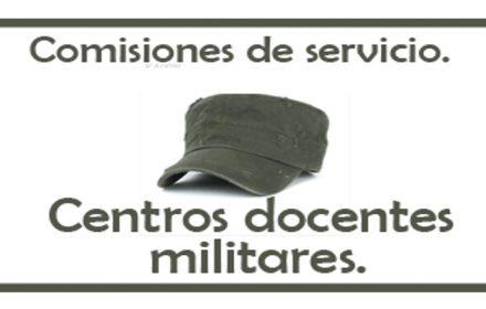 Resolución comisiones centros docentes militares