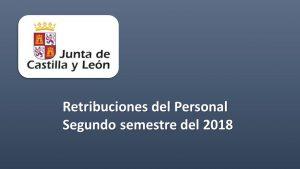 retribuciones personal segundo semestre 2018