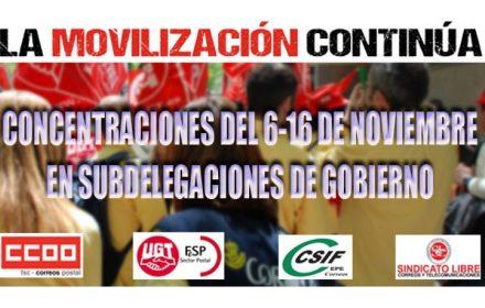 Concentraciones 6-16 nov Subdelegaciones Gobierno