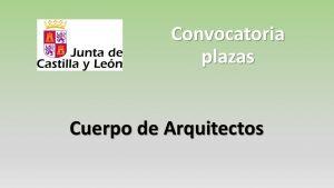 Convocatoria arquitecto oct-2018