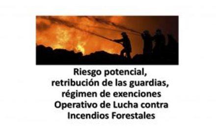 Lucha Incendios Riesgos potenciales 2018