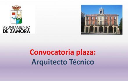ayto zamora plaza arquitecto tecnico nov-2018