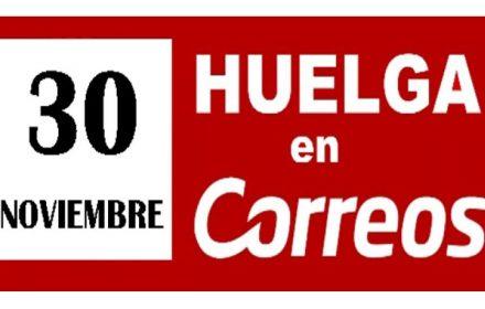 30 Noviembre huelga general Correos