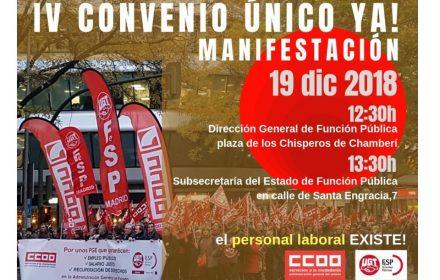 Movilizaciones 19 bloqueo IV Convenio Único