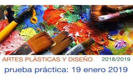Artes Plásticas y Diseño Prueba práctica 2018-2019