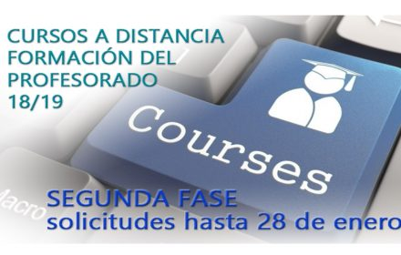 Cursos distancia profesorado18-19 Segunda fase
