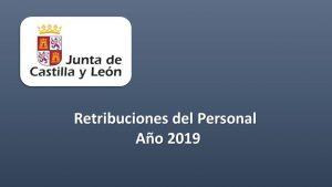 retribuciones personal 2019
