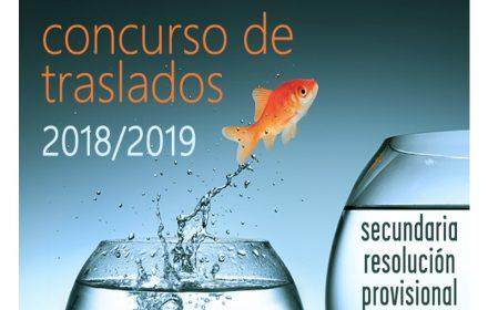 traslados Secundaria provisional 2018-19