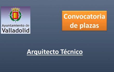 Ayto Valladolid arquitecto tecnico