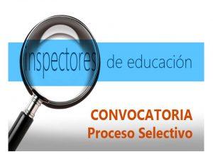 Inspectores Educación Convocatoria 2019