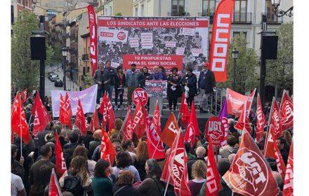 UGT CCOO movilización electoral recuperar derechos