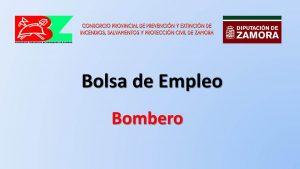 Consorcio bomberos zamora Bolsa empleo may-2019