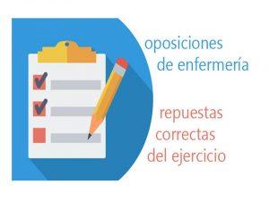 Oposiciones Enfermería Respuestas