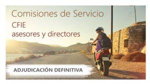 Comisiones Servicio CFIE Asesores Directores 19-20