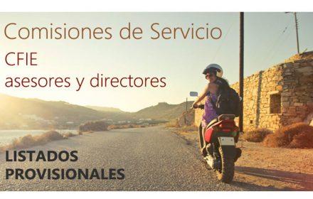 Comisiones Servicio prov CFIE Asesores y Directores 19-20