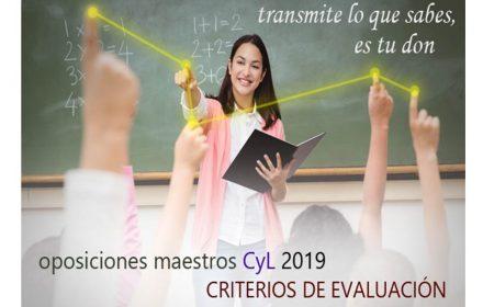 Oposiciones Maestros 2019 Criterios evaluación