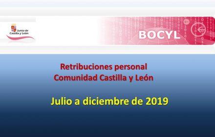 Retribuciones Personal Segundo semestre 2019