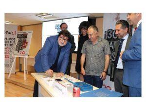 UGT-Correos sello conmemorativo 130 aniversario