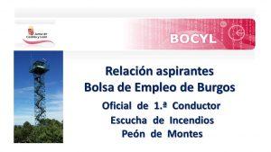 bolsa escucha otros Burgos jul-2019