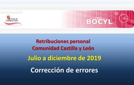errores Retribuciones Personal Segundo semestre 2019