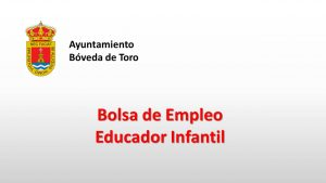 Ayto Boveda toro educador infantil