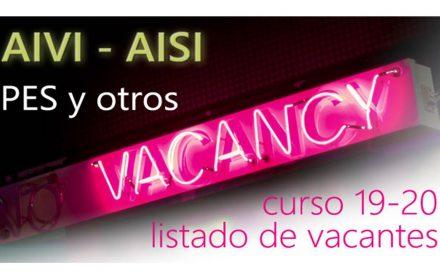AIVI-AISI PES vacantes 19-20