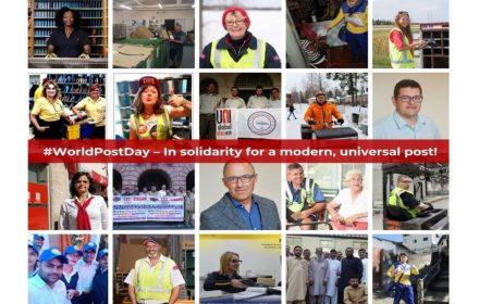 Día Postal Mundial servicio moderno