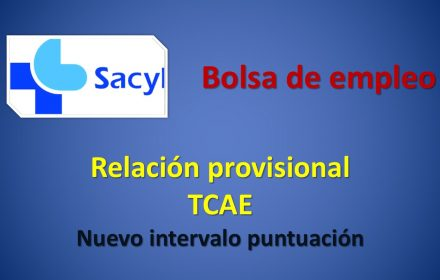 Bolsa tcae prov intervalo puntuacion nov-2019