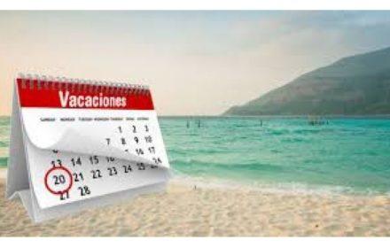 ampliación plazo días particulares y vacaciones 2019